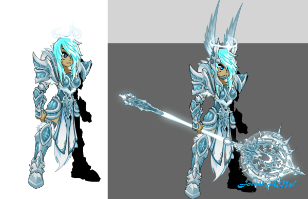 Snow angel versao aqw feminina com weapon