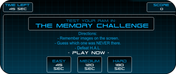 Hal's Memory Game