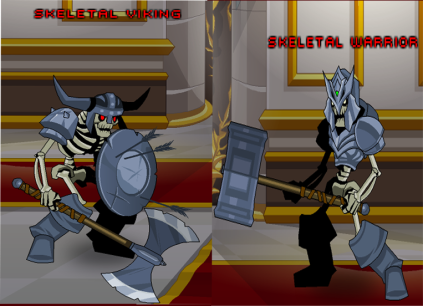 skeletal viking e skeletal warrior